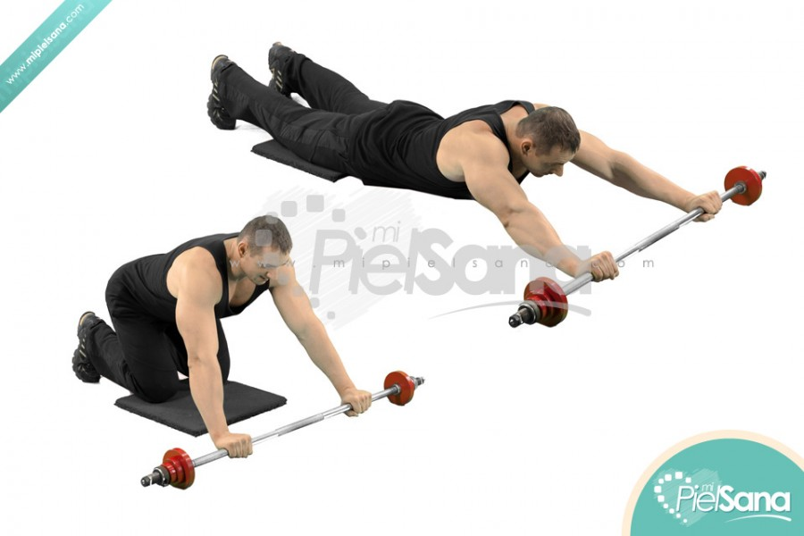 Abdominal Barbell Rollouts