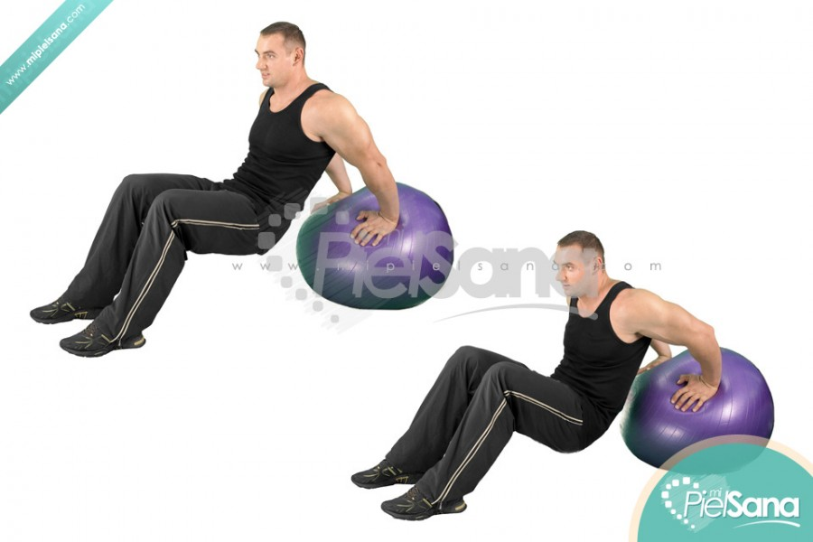 Exercise Ball Dip