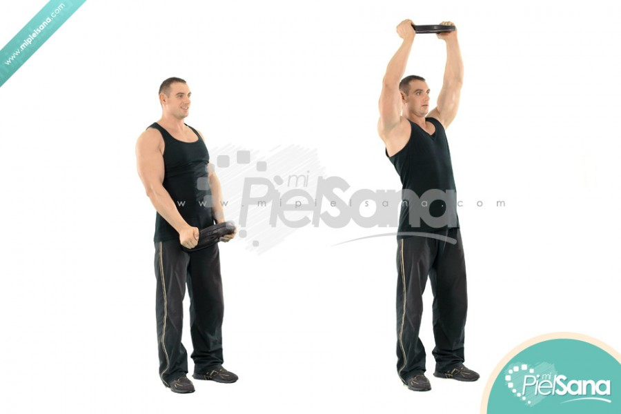 Weight Plate Front Raises High Weight Plate Front Raise