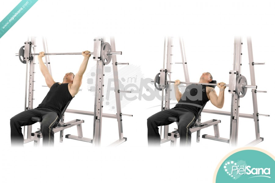 machine incline bench press