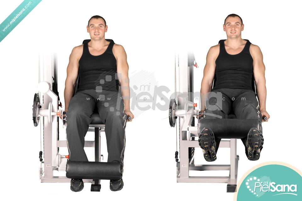 Leg Extension O Curl De Piernas Sentado En Máquina