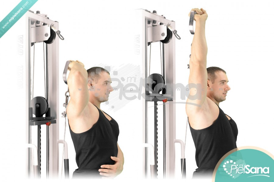 One Arm Standing Overhead Cable Tricep Extension