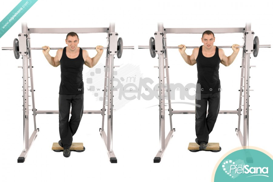 Smith Machine One Leg Toe Raise