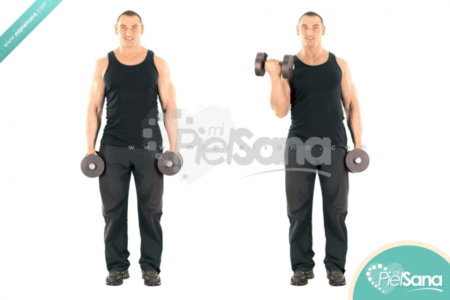 Twisting Standing Dumbbell Curl