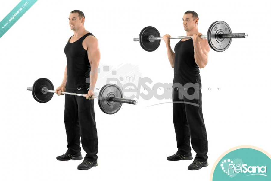 Wide Grip Standing Barbell Curl